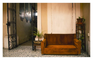 Old coach in old house with plants conexion gdl owner