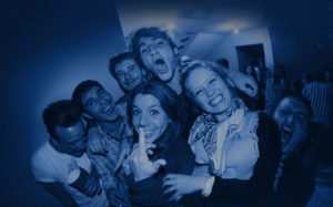 Student party group of friends picture
